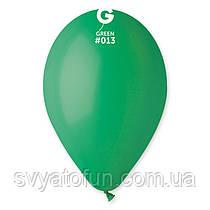 """Латексні повітряні кульки 12"""" пастель 13 темно-зелений Gemar"""