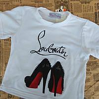 Детская футболка с туфельками
