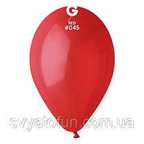 """Латексні повітряні кульки 12"""" пастель 45 червоний Gemar"""