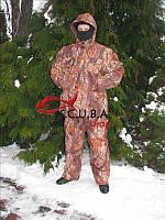 """Зимний камуфляжный костюм для рыбалки и охоты VERUS """"Красный дуб"""" утепленный на флисе"""