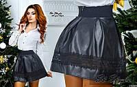 Кожаная юбка ем021, фото 1