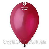 """Латексні повітряні кульки 12"""" пастель 47 бургунді Gemar"""
