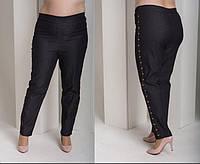 Женские джинсы на резинке с декором, с 48 по 82 размер, фото 1
