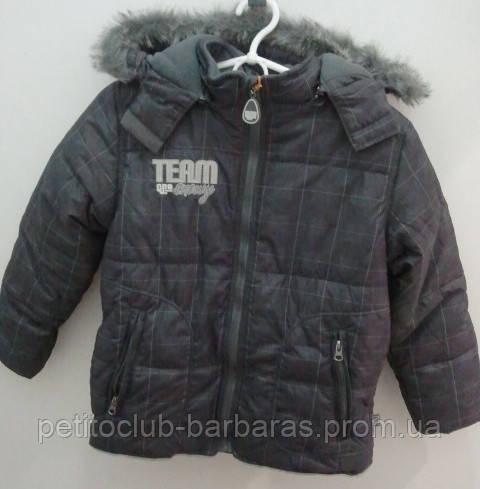 Куртка  для мальчика зимняя в клетку (QuadriFoglio, Польша)