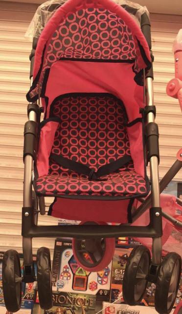 Детская прогулочная коляска для кукол Melogo 9352 поворотные колеса, регулируемая спинка, корзина, козырек
