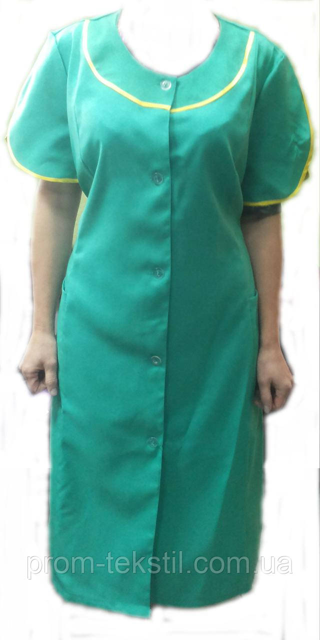 Халат рабочий с коротким рукавом