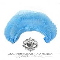 Шапочка гофре, голубая (100 штук)