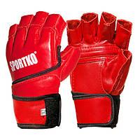 Перчатки кожаные с открытыми пальцами Sportko арт. ПК-4 (размер XL)