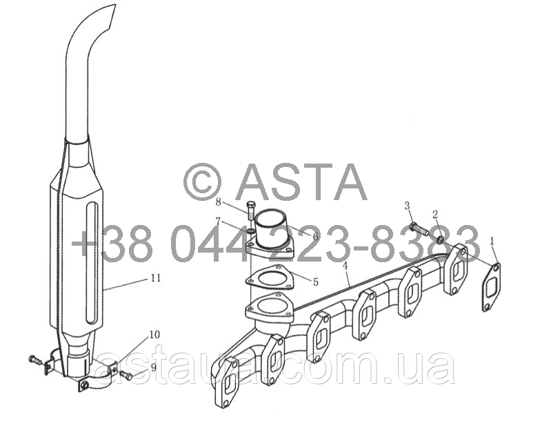 Глушник YTO 1104