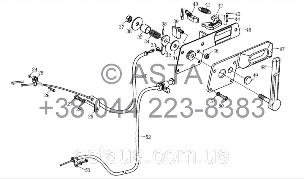 Механизм управления дросселем - устройство выключения на YTO 1104