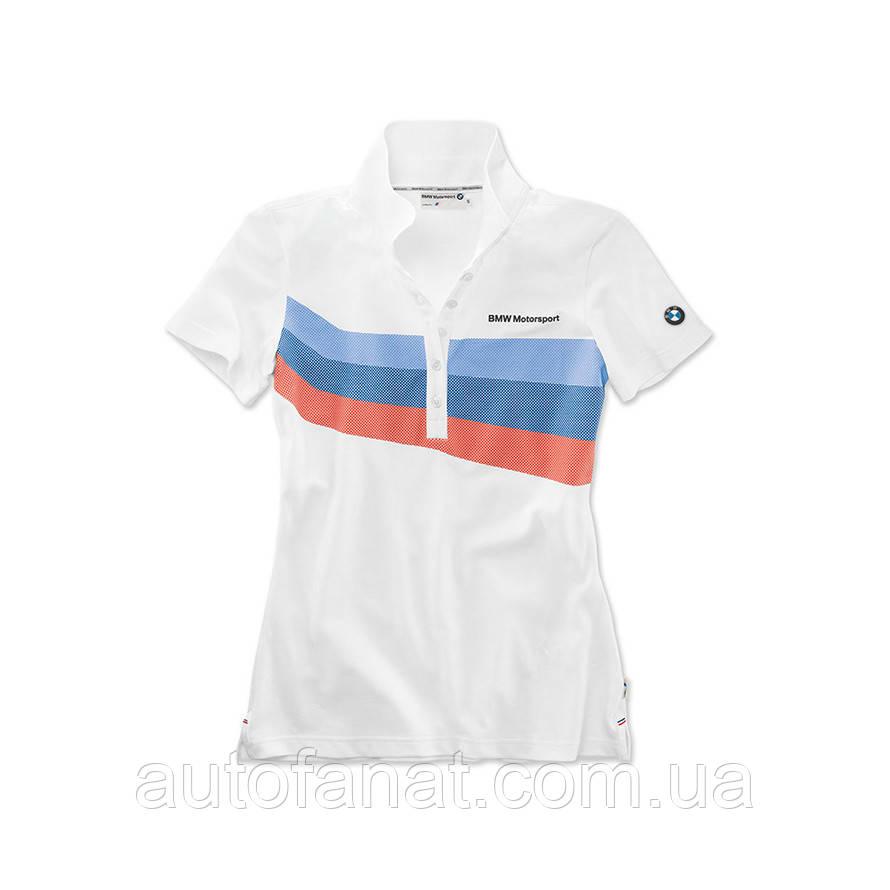 Оригинальная женская рубашка-поло BMW Motorsport Polo Shirt, Ladies, White (80142446401)