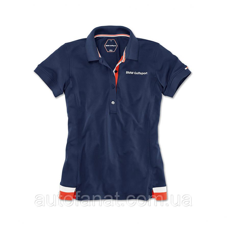 Оригинальная женская рубашка-поло BMW Golfsport Fashion Polo Shirt, Ladies, Navy Blue (80142446337)