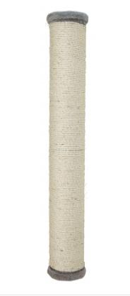 Дряпка - столбик  60 х 9cм настенного крепления, серый, для кошек