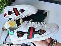 Модные женские кеды Gucci New Ace стрела (реплика), фото 1
