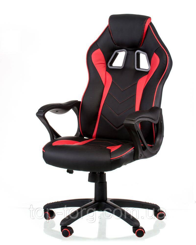 Кресло геймерское, игровое Game black/red черно-красное спорт
