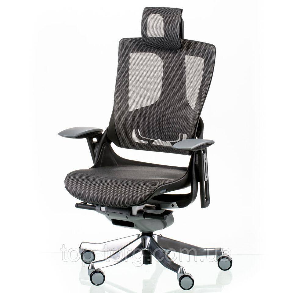 Кресло офисное руководителя WAU2 CHARCOAL NETWORK серое