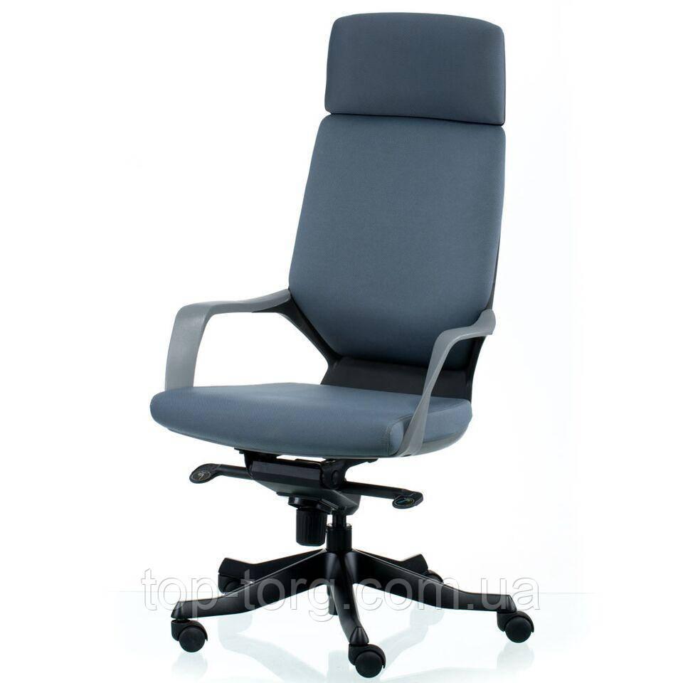 Кресло руководителя, офисное APOLLO GREY/BLACK, серое