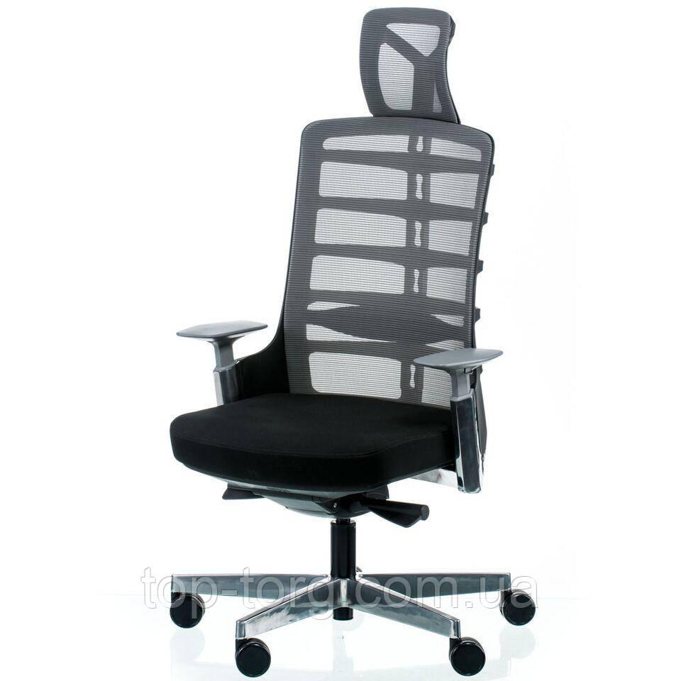 Крісло керівника, офісне SPINELLY BLACK/METALLIC чорний, металік