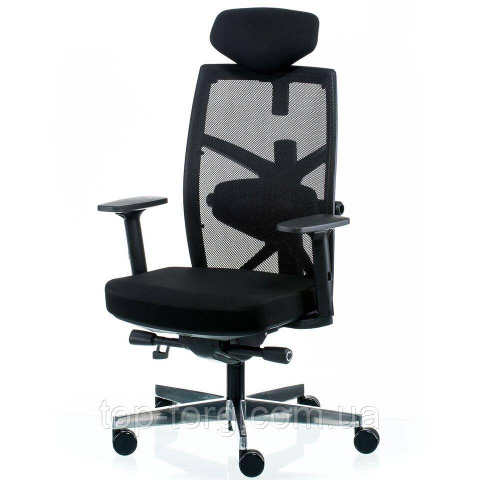 Кресло руководителя, офисное TUNE BLACK черный