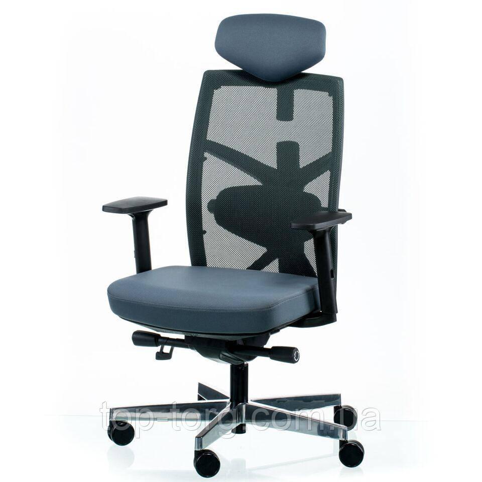 Кресло руководителя, офисное TUNE SLATEGREY/BLACK серый, черный