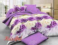 """Красивый двухспальный евро комплект постельного белья """"Магдалина""""."""