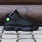 """Баскетбольные кроссовки Air Jordan 13 Retro """"Black Cat"""" (Найк Аир Джордан 13 Ретро) в стиле черные, фото 3"""