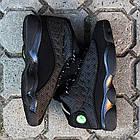 """Баскетбольные кроссовки Air Jordan 13 Retro """"Black Cat"""" (Найк Аир Джордан 13 Ретро) в стиле черные, фото 5"""