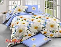 """Красивый двухспальный евро комплект постельного белья """"На небе голубом""""."""