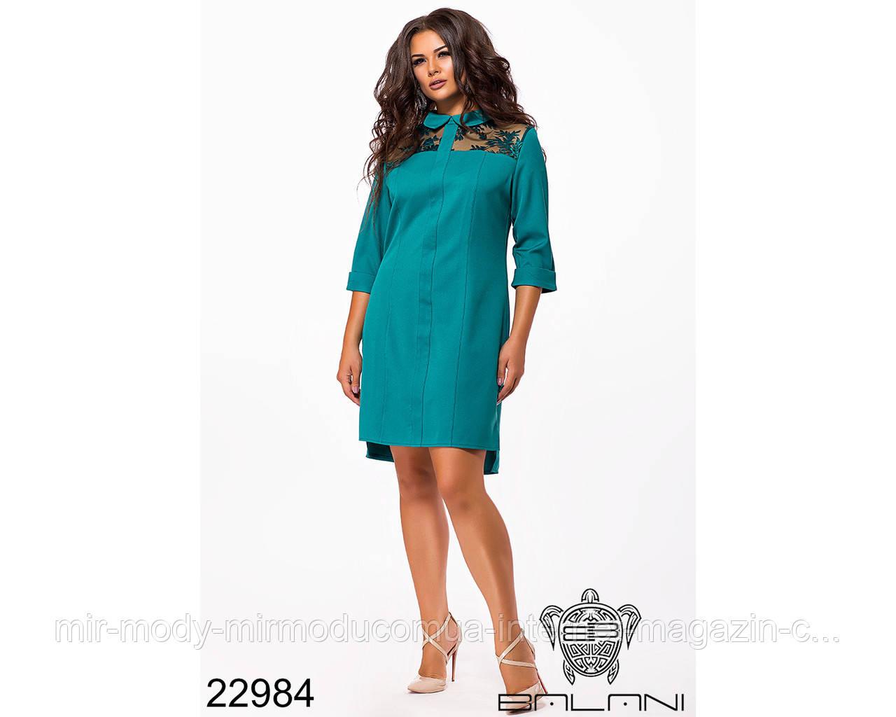 Платье - рубашка - 22984 с 50 по 52 размер(бн)