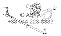 Колесо, рулевая тяга на YTO-X1104