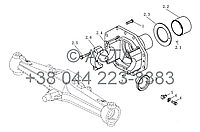 Коническая шестерня на YTO-X1104