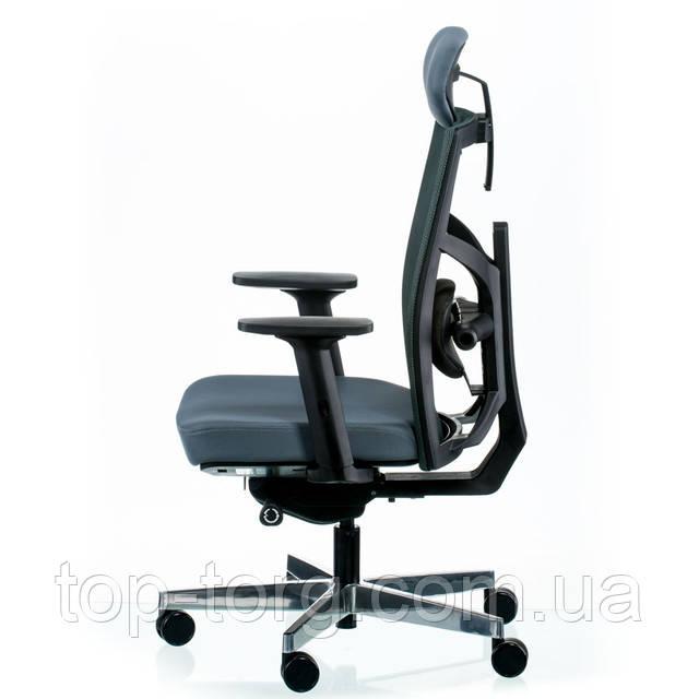Кресло руководителя, офисное TUNE SLATEGREY/BLACK серо-черное