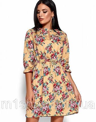 Женское приталенное платье с цветочным принтом (Стилла kr), фото 2