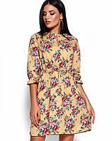 Женское приталенное платье с цветочным принтом (Стилла kr)