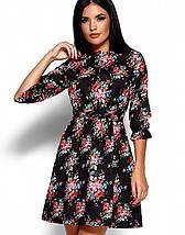 Женское приталенное платье с цветочным принтом (Стилла kr), фото 3