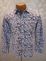 Рубашка подростковая для мальчиков 128,140,152 роста Модная