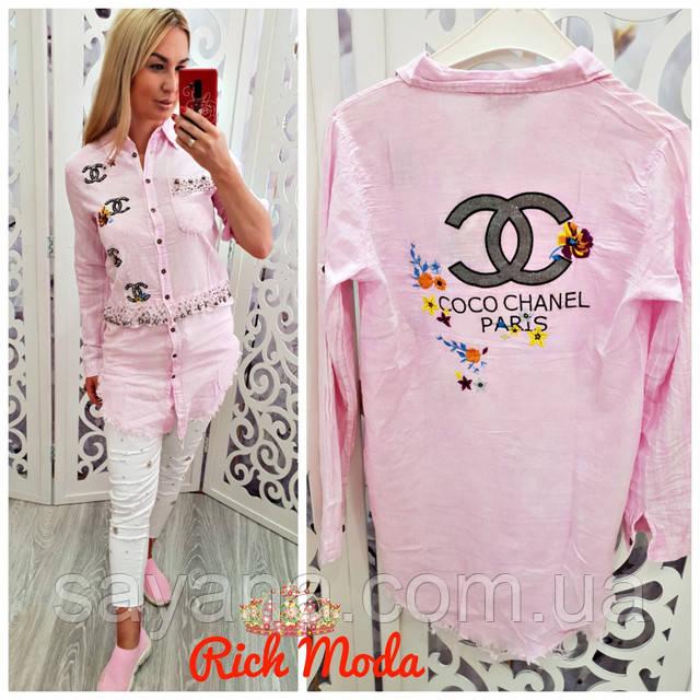 f6501bbfc56 Женская рубашка-туника с декором в расцветках. ИТ-5-0818  купить по ...