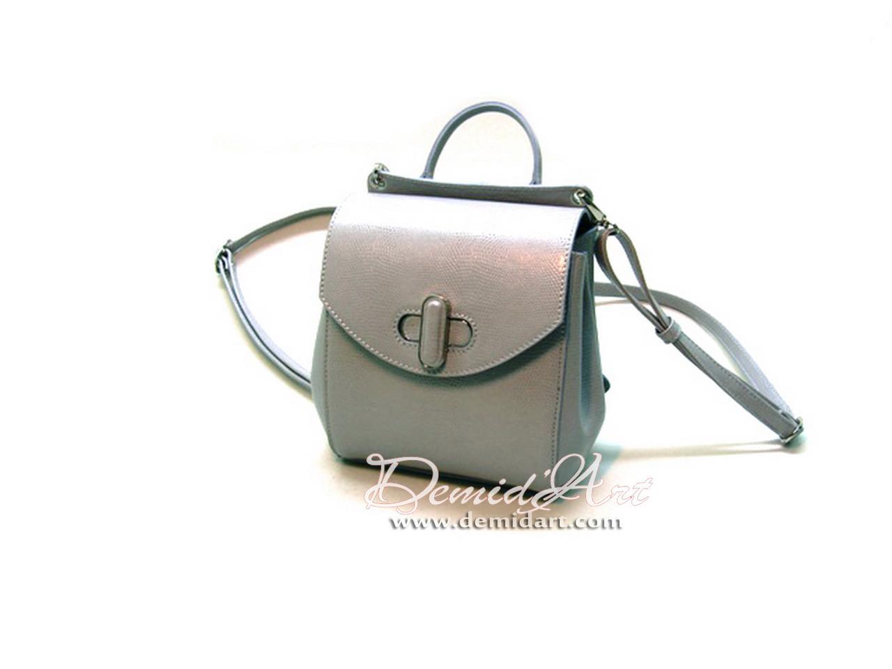 Стильний шкіряний рюкзак