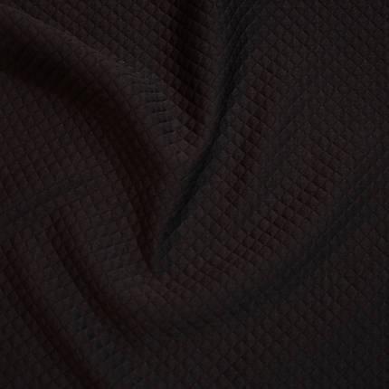 Стеганный трикотаж ромбик черный, фото 2
