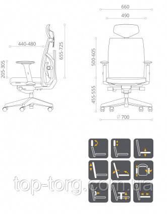 Кресло руководителя, компьюетрное, офисное TUNE SLATEGREY/BLACK E5494