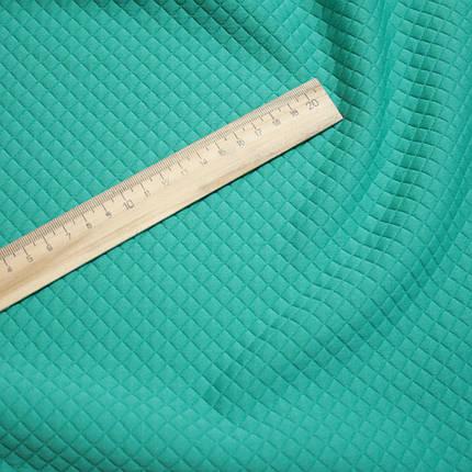 Стеганный трикотаж ромбик мята, фото 2