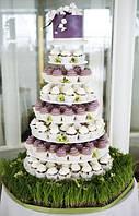 Подставка многоярусная для торта , фруктов , капкейков ( крашенная )
