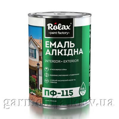 Эмаль ПФ-115 Rolax Темно-серый 2,8кг