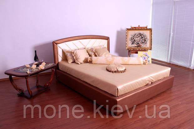 """Кровать """"Анастасия"""" двуспальная с мягким изголовьем и подъемным механизмом + 2 подушки"""