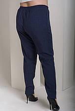 Синие прямые брюки больших размеров Вог, фото 2