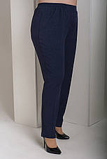 Синие прямые брюки больших размеров Вог, фото 3