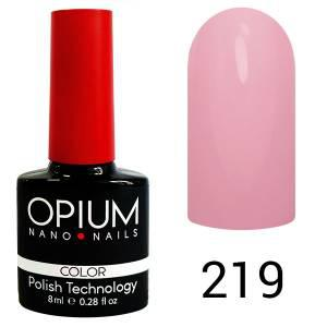 Гель лак Opium № 219 пастельний рожево-бузковий 8 мл