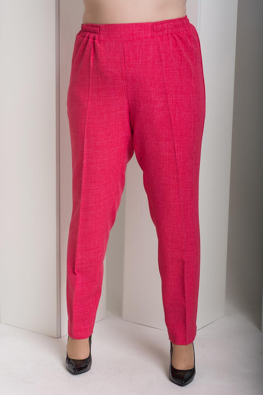 42a18009bf2 Малиновые женские брюки больших размеров Вог - V Mode