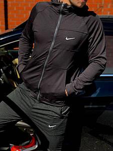 Спортивный костюм в стиле Nike двухнитка-антрацит