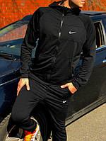 Спортивный костюм Nike двухнитка-Черный